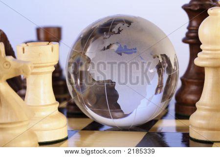 Globo y ajedrez
