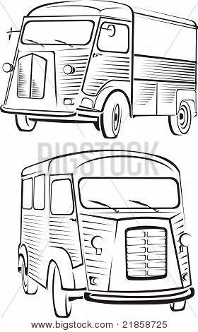 van - old school cars