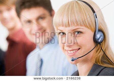 Operador de telefone amigável
