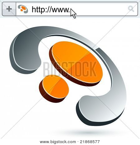 Business digital vector abstract signs represented in different usages.