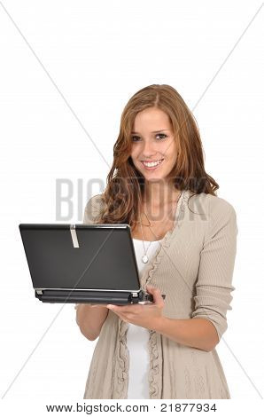 Young Woman With Notebook