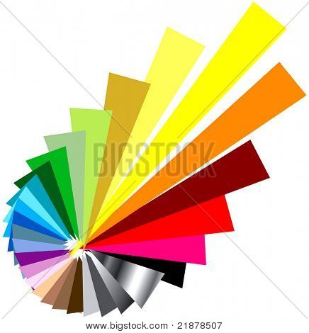 exploding vector color wheel