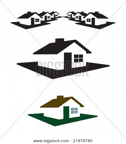 House Logo and Header Ready for your Text and Color.