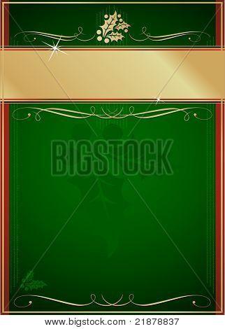 Exotische grüne und rote Holly und Polka geschmückt Weihnachtskarte oder Tag. Siehe meine Farbe und design-varia