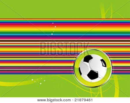 vector football background black green color with ball
