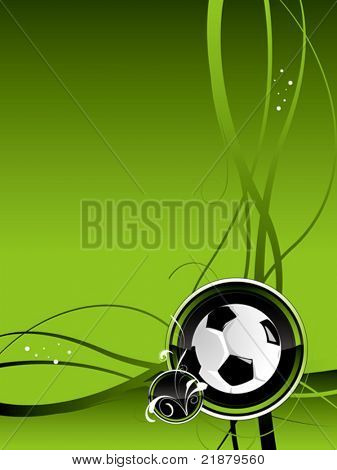 vector football background black green colour with ball