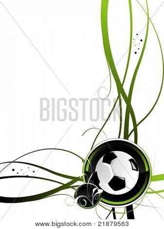 Vektor-Fußball-schwarz, grüne Farbe mit ball