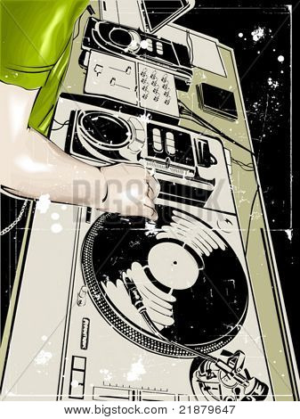 Vector dj Club Tanz Partei hintergrund illustration