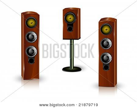 Great loud speakers. Isolated on white.