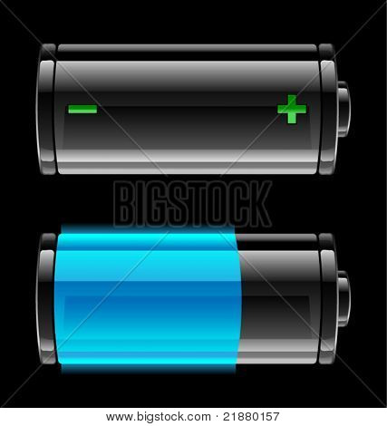 vector icon with the level of battery charge