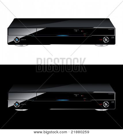 icon vector black dvd player