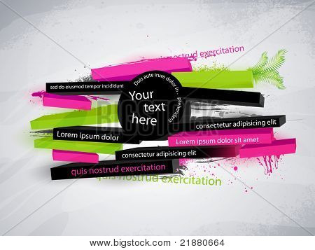 abstract vector graphic, banner in graffiti style