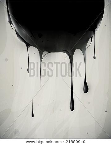 abstrakt Ölpest fließt mit Tropfen