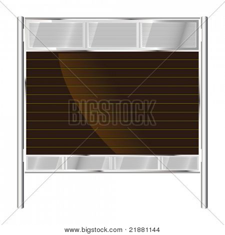 vector Blank Billboard, banner. Outdoor advertising construction.