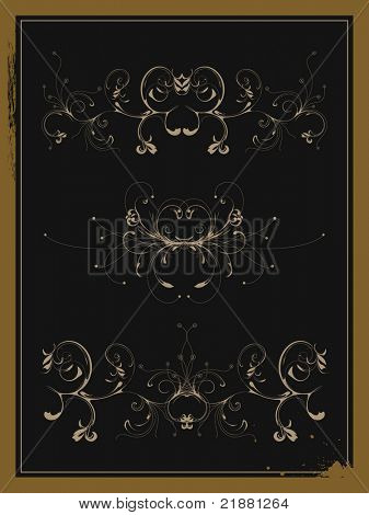 vector abstract pattern on black background