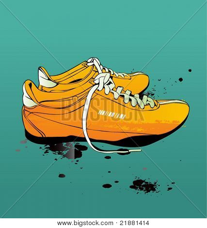 Vector illustration of sport shoes, sneakers