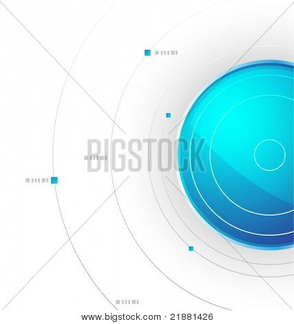 vector design background with the ball and waves