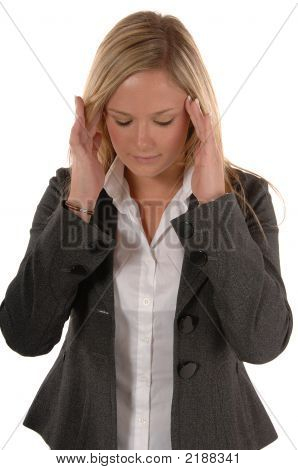 Business Women With Headache
