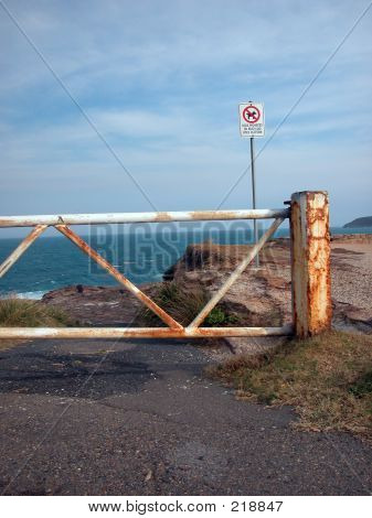No Entry To Cliff