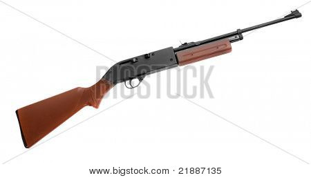 Self-loading hunting rifle isolated on a white background.