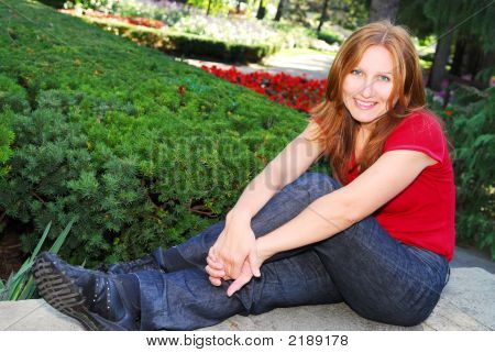 Mature Woman Relaxing