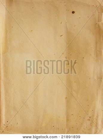 Textur - ein Blatt Papier alte, verschmutzte