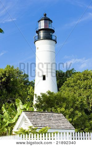The Key West Lighthouse, Florida Keys, Florida, USA