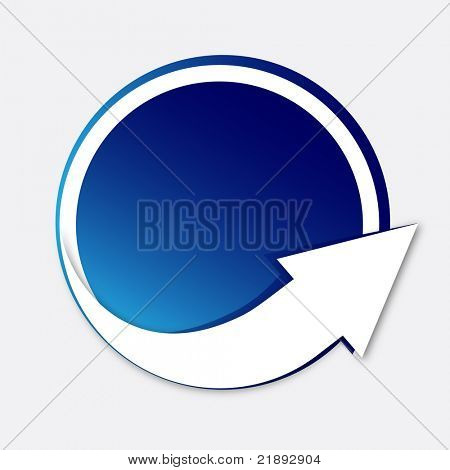 Sticker with arrow - Vector EPS10