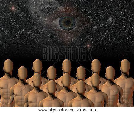 unknowns under watchful eye