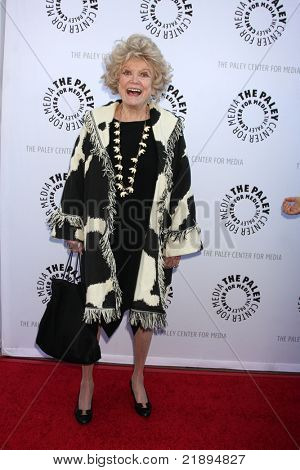 LOS ANGELES - JUN 7:  Phyllis Diller arrives at the Debbie Reynolds Collection Auction Preview at Paley Center For Media on June 7, 2011 in Beverly Hills, CA