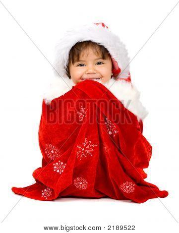 Baby Santa In A Gift Sack