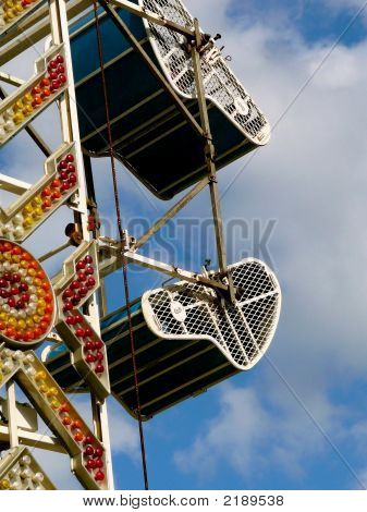 Carnival Ride With Neon Lights