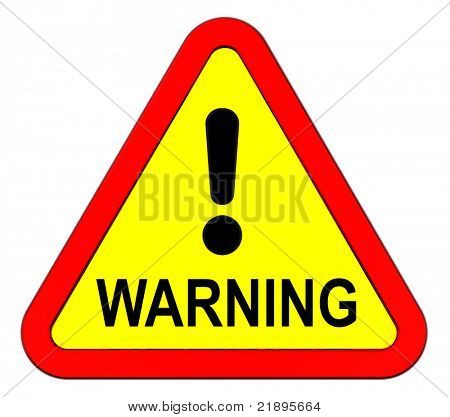 Warning sign isolated on white