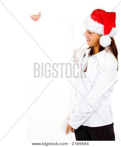 Christmas Girl Presenting