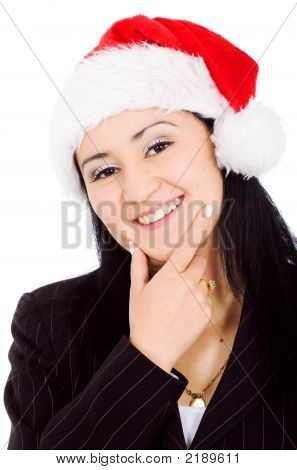 Business Female Santa