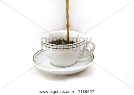 Pouring A Coffee Cup
