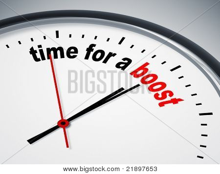 An image of a nice clock with time for a boost