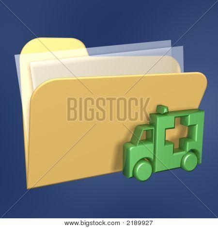 Files  Folder And Ambulance