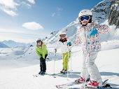 pic of family ski vacation  - Winter - JPG
