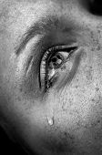 image of sad eyes  - crying woman - JPG