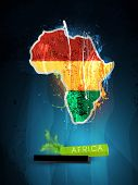 stock photo of rasta  - abstract illustration of the continent Africa - JPG