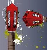 picture of sounding-rod  - vector guitar neck - JPG