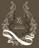 image of wedding invitation  - vintage cover design - JPG