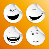 picture of angry smiley  - Set of smileys stickers - JPG