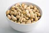 Peanuts In White Porcelain Bowl