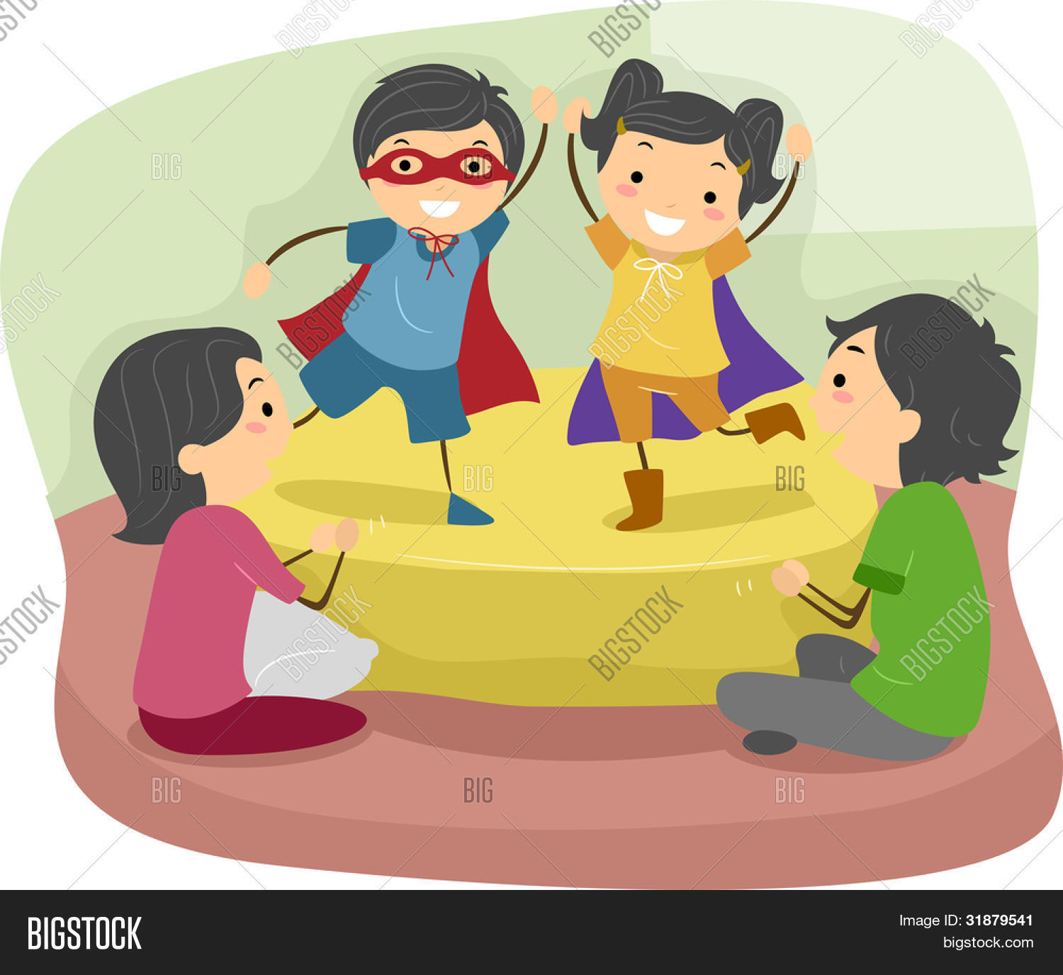 Illustration of Kids Doing a Role Play in Front of their ...