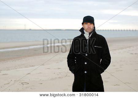 man at the beach