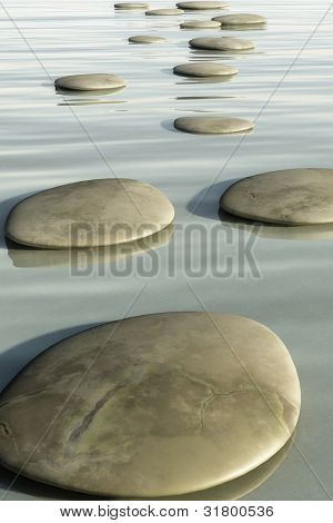 An image of some nice step stones in the sea