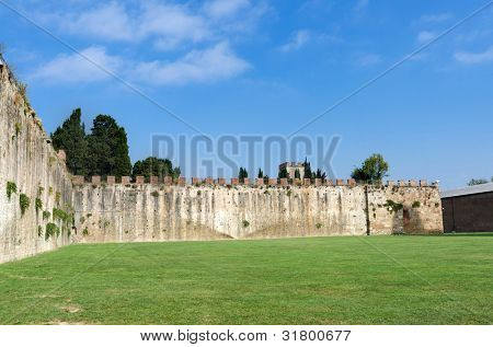 The Medieval City Walls of Pisa, Italy