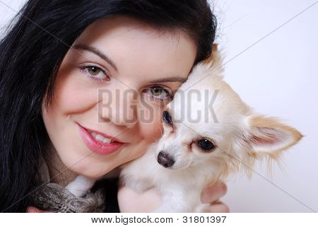 Girl with Chihuahua